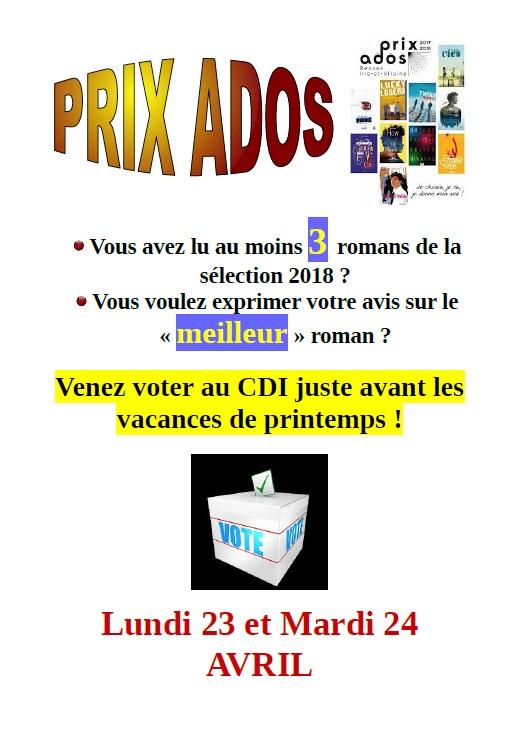 Bientot Le Vote Pour Votre Roman Prefere Du Prix Ados Le